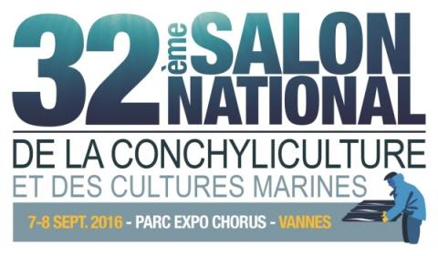 Logo 32ème édition du Salon National de la conchyliculture et des cultures marines